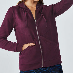 Fabletics Ruby Burgundy Hooded Sweatshirt Size M